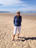 Claire Wolfe on the Gower beach