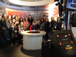 All of us at the BBC's simulation suite!