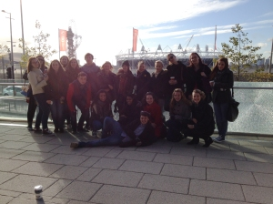 Our group just outside the Olympic park! : )