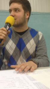 Me in commentator training for the British Wheelchair Basketball Association!