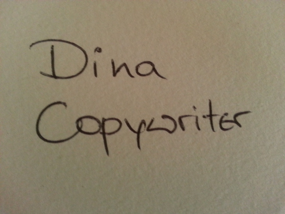 Copywriter for a day : )