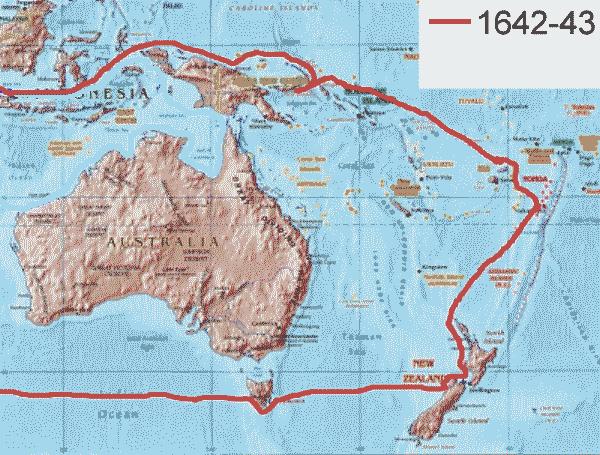 Abel-Tasman-first-voyage-route