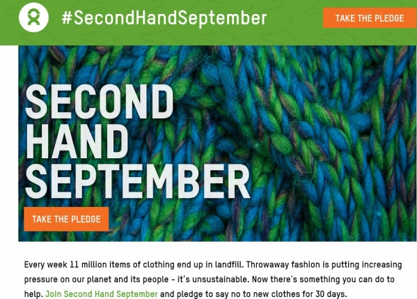 The Oxfam Second Hand September Logo